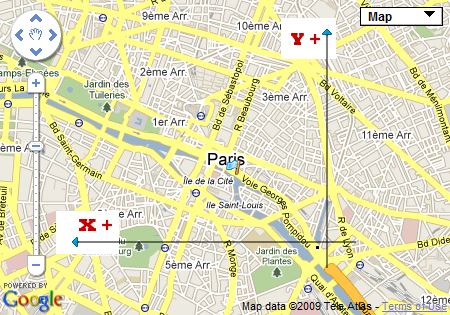 creer un point sur Google Map